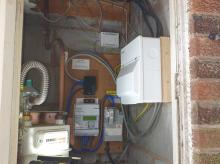 Consumer unit upgrade in a cupboard