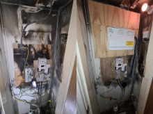 Consumer unit upgrade after a fire